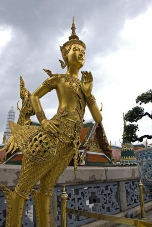 Golden Angel statue at Wat Pra Kaeo photo