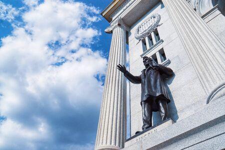 Abraham Lincoln, Pennsylvania Monument, Gettysburg