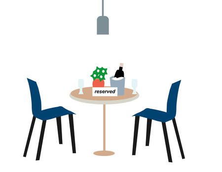 Reserve a table in a cafe, a vector graphics Vektorgrafik