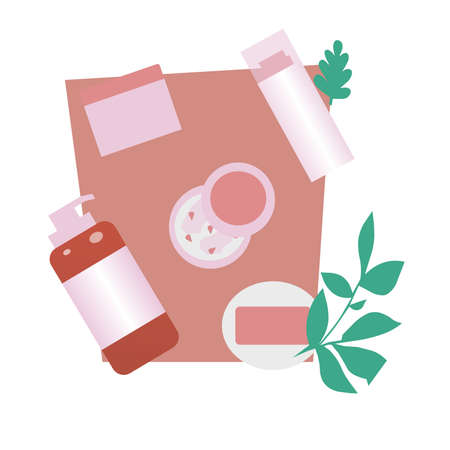 Care cosmetics, lotions, cream, a vector graphics