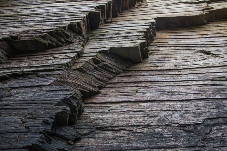 strata: Strata, slate or shale rock layers  Coast Cathedrals beach  Playa de Aguas Santas   Lugo  Galicia  Spain