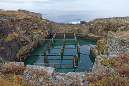 crustaceans: Former nursery Cetarea or crustaceans for consumption derelict in the Cantabrian Sea coast