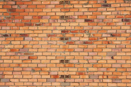 hollow walls: Texture or background of brick wall and outdoor cement newly built