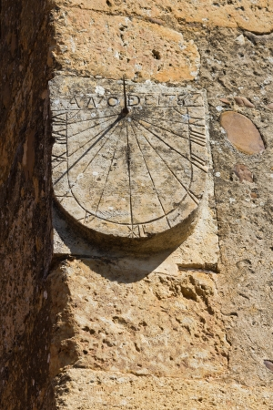 Sundial stone tower from 1787