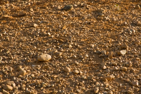 Scree desertic arid land with soil and stones