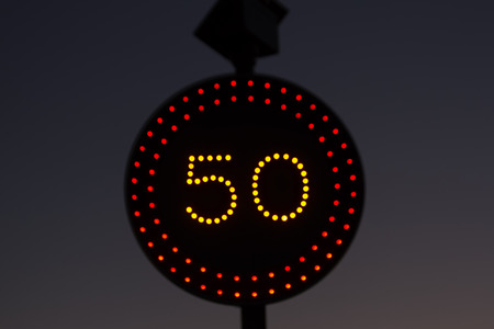 permissible: Traffic signal with night lighting with solar panel  Maximum permissible speed 50