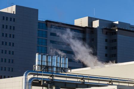 crematorium: Outdoor facilities on public hospital building