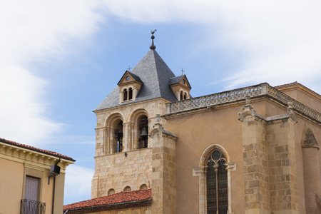 Rooster weather vane tower in the Collegiate Basilica of San Isidoro in Leon Spain photo