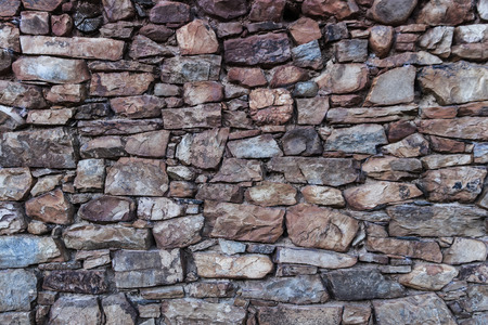 Stone wall and flagstone texture edges in faded tone Banque d'images