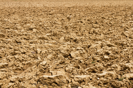 recently: Plot of land or agricultural land recently plowed for farming Stock Photo