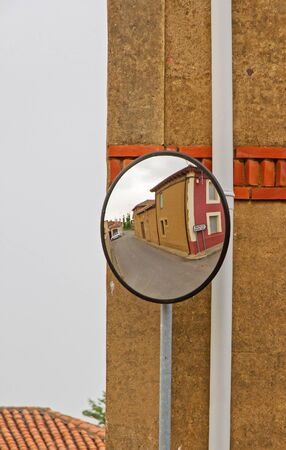 convex: Convex Mirror in cross street to encourage visibility