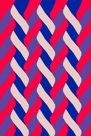 braiding: Textile pattern design or wallpaper. With braided lines