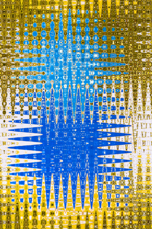 jagged: Textile pattern design or wallpaper. Abstract star jagged in gold and blue