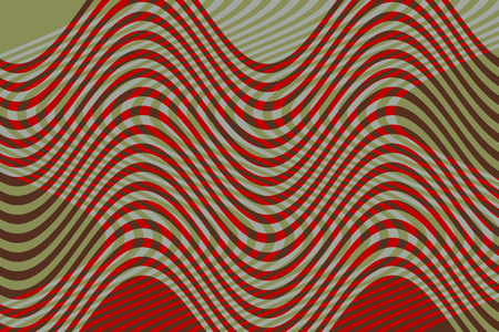 interlaced: Design for textile pattern or background of geometric screen. With wavy lines and colors interlaced and kinetic effect Stock Photo