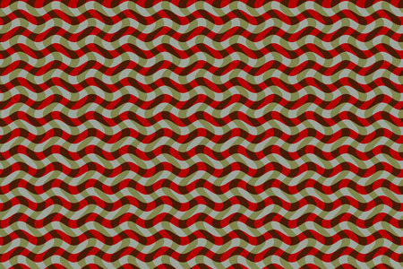 interlaced: - Design for textile pattern or background of geometric screen. With wavy lines and colors interlaced and kinetic effect