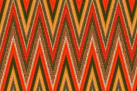 Textile textured geometric pattern design Zig Zag Stock Photo