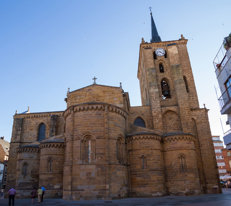 apses: Apses and tower Church of Santa Maria del Quicksilver or The Mayor of Benavente. Zamora. Spain