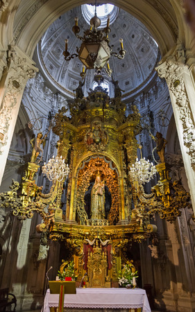 mary mother of jesus: Inside Virgin Lugo Cathedral - Chapel of Our Lady of the Big Eyes inside the Cathedral of Lugo in Galicia Spain.