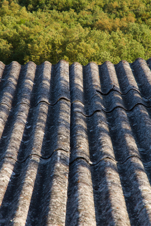 fibrous: Roof insulation Built with asbestos fibrous materials prohibited by Their carcinogenic effects