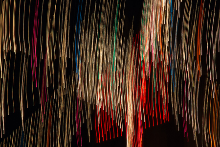 sweep: Painting with Light. Colored lights sweep forming an image abstract lines or stripes Stock Photo
