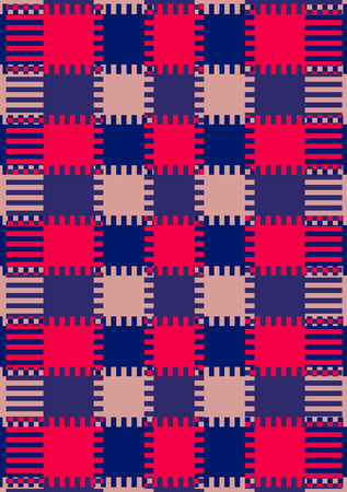 jagged: Textile or wallpaper pattern Design With elements and jagged square Repeated interweaving Stock Photo