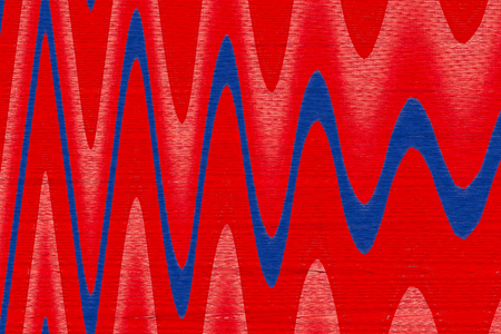 undulating: Textured and wavy design in red and blue Stock Photo
