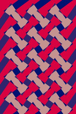 textil: Textile pattern design or wallpaper. Interlocking shapes - Diseño para patron textil o de fondo de pantalla. Con formas entrelazadas  patron, diseño,  modelo, entrelazado,  impresión, imprimir,  gráfico,onda, tejido,  abstracto, fondo, fondo de Stock Photo