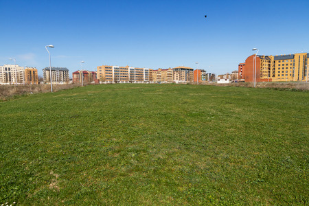 Cityscape estate or housing development, with empty lots to build