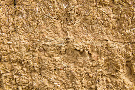 Wall Detail for background or texture of mud and straw baked in the sun Reklamní fotografie
