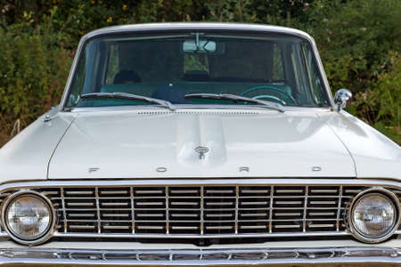 Front view of Ford Falcon in Concentration of Classic Cars
