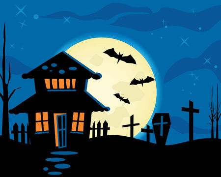 Halloween night theme Vector