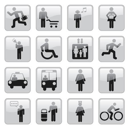 bike vector: iconos de personas Vectores