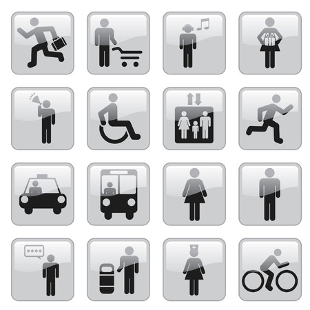 internet traffic: people icons Illustration