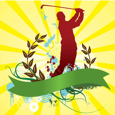 Colorful golf abstract background Stock Vector - 3513395