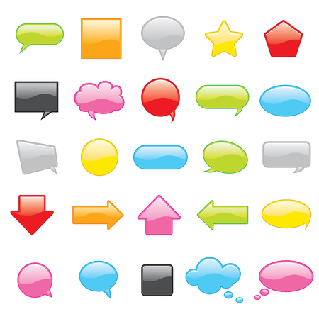 Colorful vector chat icons Vector