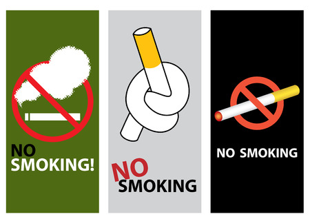 different style no smoking design Vector
