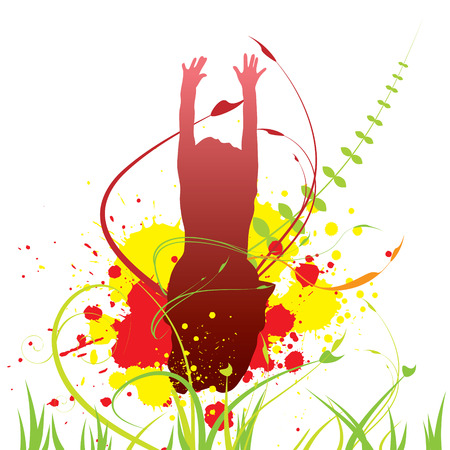 Abstract summer background for design. Vector