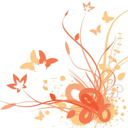 Floral background, illustrazione vettoriale