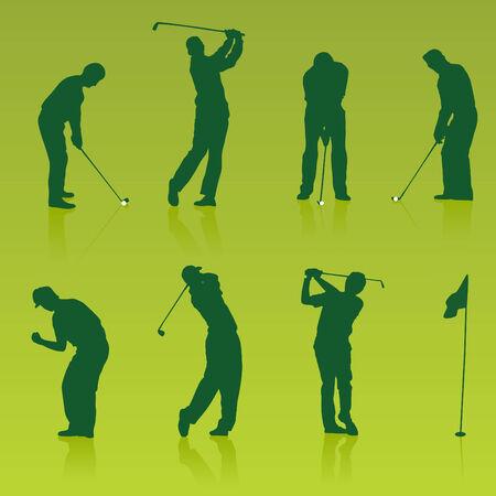 Golf players Illustration