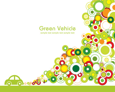 Green vehicle Vector