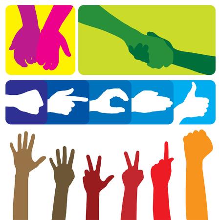 successful student: I gesti delle mani. La grande raccolta. Vettoriali