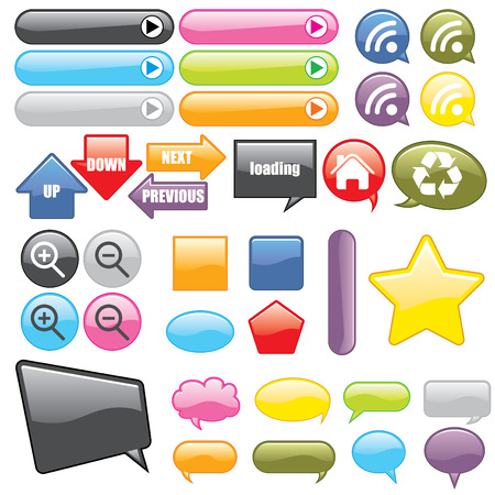 Web Buttons and Icons Stock Vector - 3649523