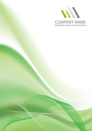 Corporate Business Template Background (green wave design)
