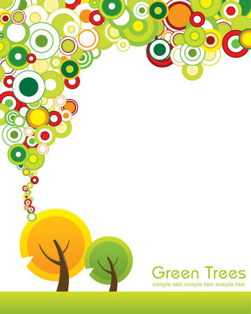 Green Trees Concept Vector