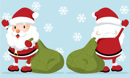 Lovely Santa Claus (front and back) Vector