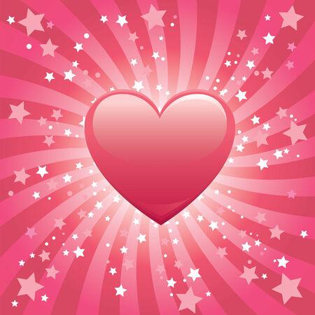 Bursting Heart Background Vector