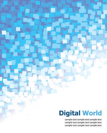 Digital (Blue Pixel) Background