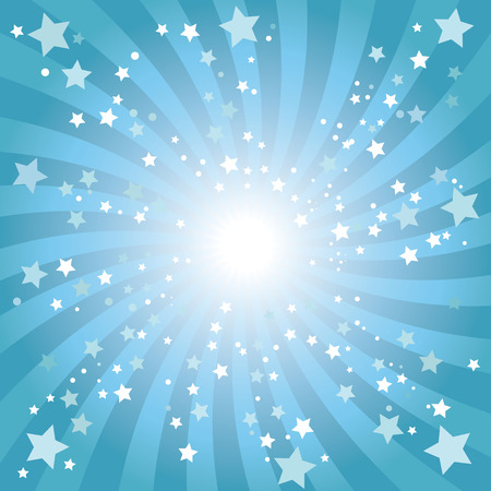 Abstract blue star background Vector