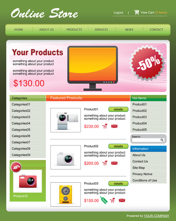 vector Web Template 01 -- Online Store