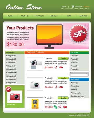 vector Web Template 01 -- Online Store